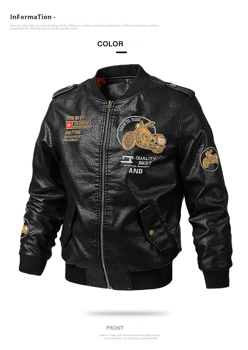 HTB1gpiJdf1H3KVjSZFHq6zKppXay Men's Leather Jackets and Coats Male Motorcycle Leather Jacket Casual Slim Brand Clothing V-Neck Collar Coats