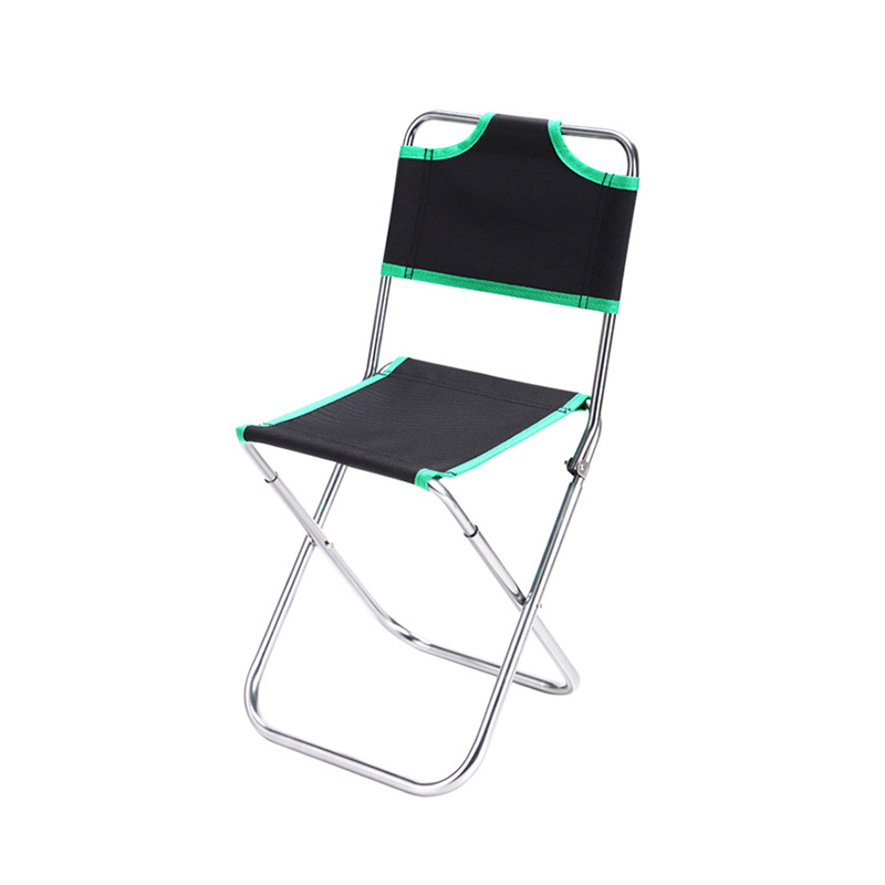 portable beach chair best desk chairs reddit costway outdoor aluminum alloy backrest stool camping folding oxford cloth fishing w0263