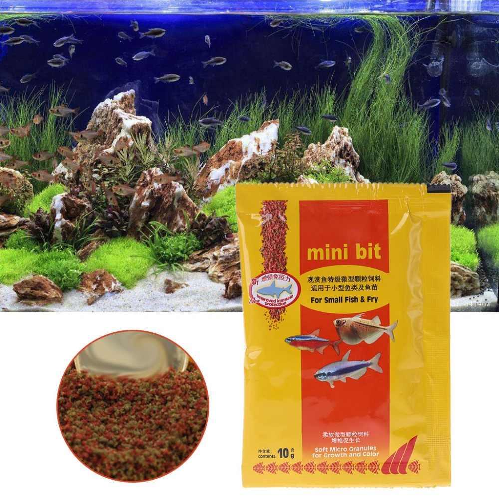 Akvaryum küçük balık yemi Bettas tropikal akvaryum balığı sağlıklı yem malzemeleri