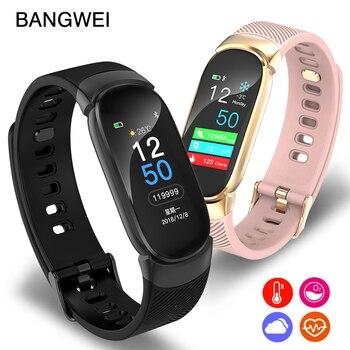 BANGWEI Bluetooth reloj inteligente impermeable de moda de las señoras de  las mujeres de Smartwatch reloj 5d307bb24f8