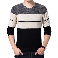 YDTOMM Men S Sweater 2017 Autumn New Fashion V Neck Sweater Men Striped Pullover Sweaters Casual