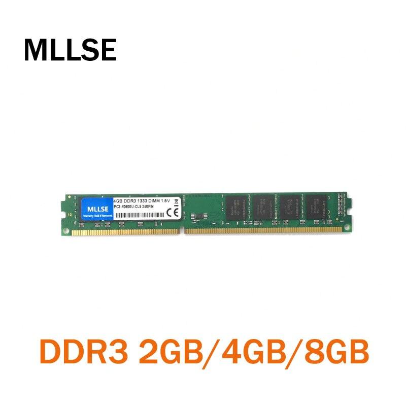 MLLSE новая герметичная Память DIMM DDR3, 1333 МГц, 4 Гб, память для настольных ПК, хорошее качество! Совместима со всеми материнскими платами!