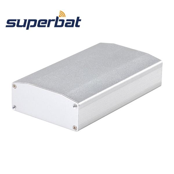 Superbat 110*64*25.5MM Black/Silver PCB Enclosure Aluminum Box Case For Amplifier Electronic Instrument 4.33''*2.52''*1.00''