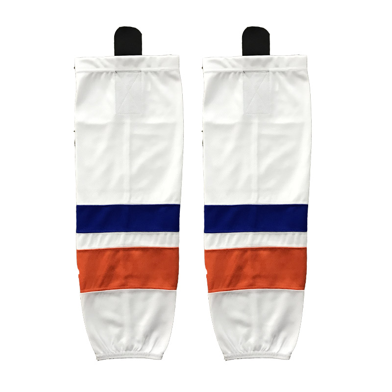 JETS 100% Polyester Ice Hockey Socks Cheap Shin Guards For Team XW035