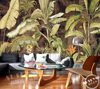 Custom Retro Wallpaper Banana Leaf Painting For The Living Room Bedroom TV Background Wall Waterproof Wallpaper