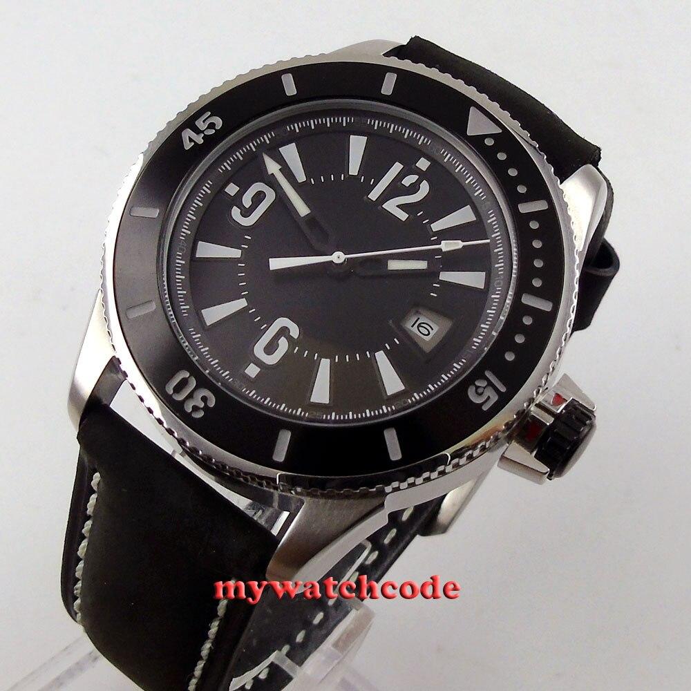 43mm BLIGER black dial luminous ceramice bezel date automatic mens watch 143mm BLIGER black dial luminous ceramice bezel date automatic mens watch 1
