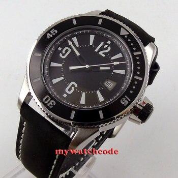 43mm bliger 블랙 다이얼 축광 세라믹 베젤 날짜 자동 태엽 시계 1