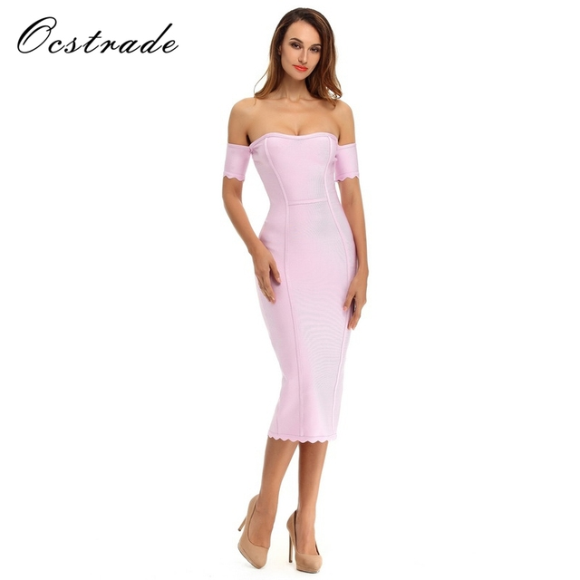 Free Shipping Womens Dresses New Arrival Summer 2016 Lilac Strapless Sexy Off  Shoulder Bandage Dress Ruffle Bodycon Wholesale HL 2c564d72e487