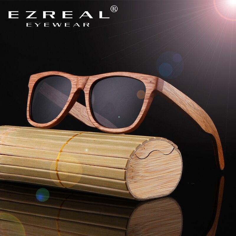 EZREAL Ahşap Güneş Gözlüğü Bambu marka güneş gözlükleri - Elbise aksesuarları - Fotoğraf 6