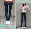 Women's jeans wholesale dark elastic thin pencil pants feet pants