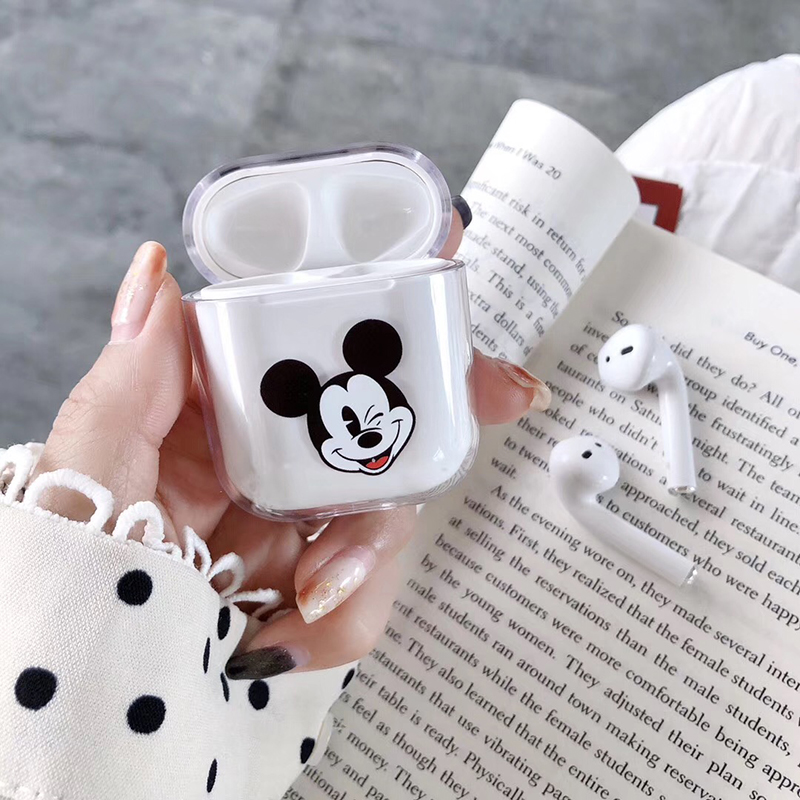 Image 4 - Minnie Mickey Stitch Pooh Wireless Earphone Charging Cover Bag for Apple AirPods 1 2 Disneys Dumbo hard PC Bluetooth Box Heads-in Earphone Accessories from Consumer Electronics