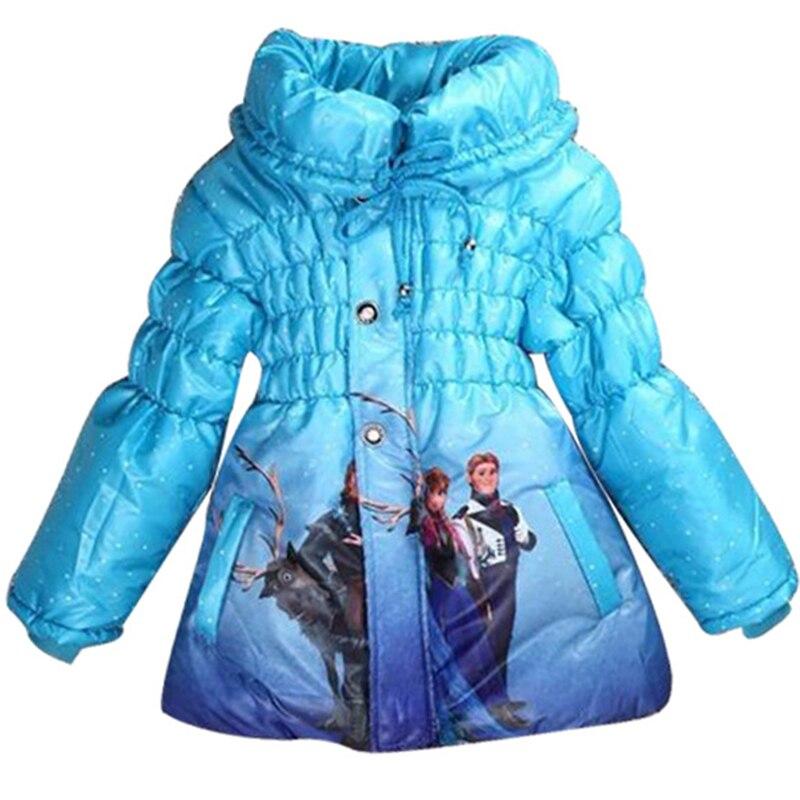 Niñas invierno dibujos animados abajo chaqueta Elsa Anna Cenicienta Navidad abrigo niños trajes prendas de abrigo bebé niños ropa chaqueta de nieve