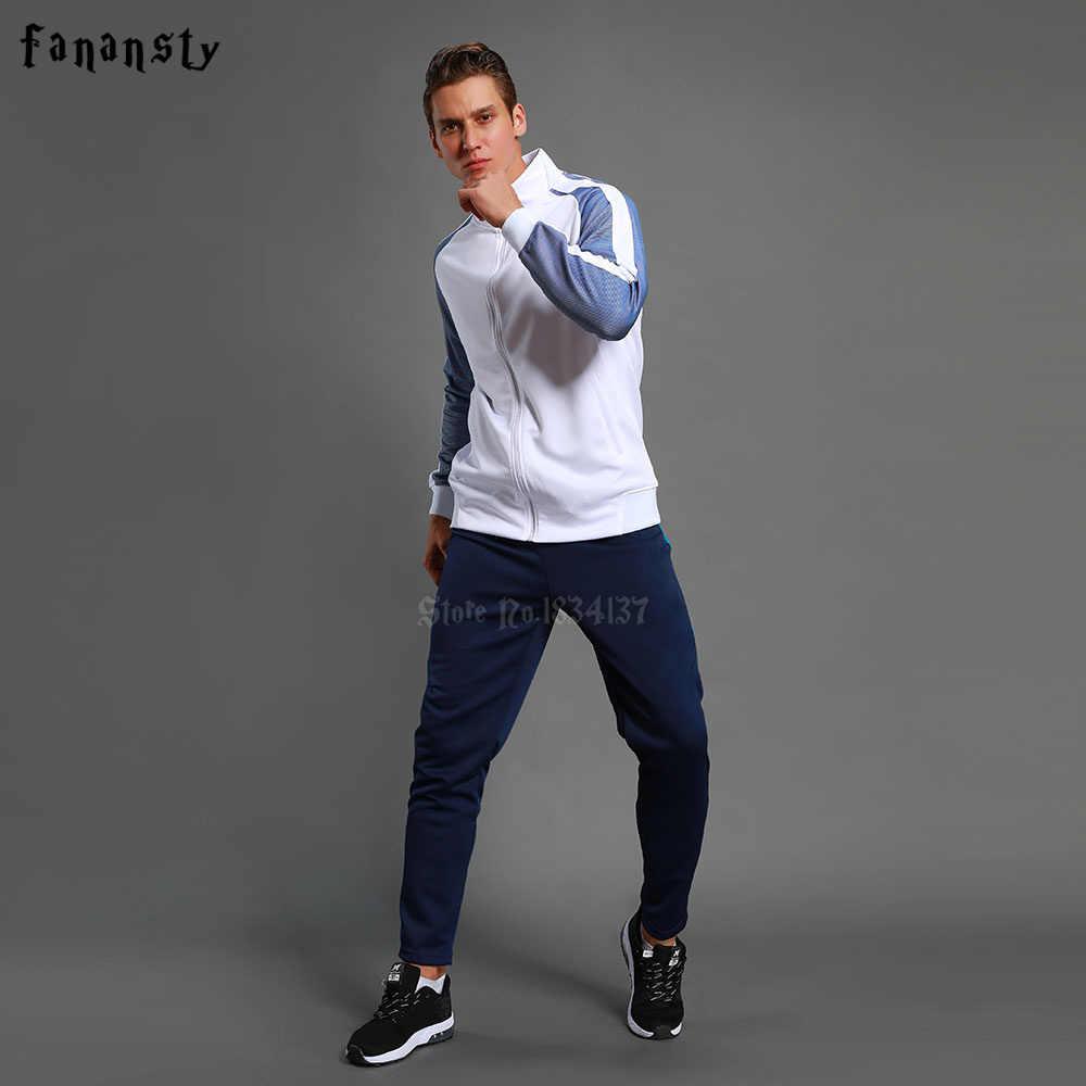 a3565e3618c9 ... Высокое качество спортивный костюм футбол 2017 для мужчин training  Куртка костюмы для взрослых Униформа на заказ ...