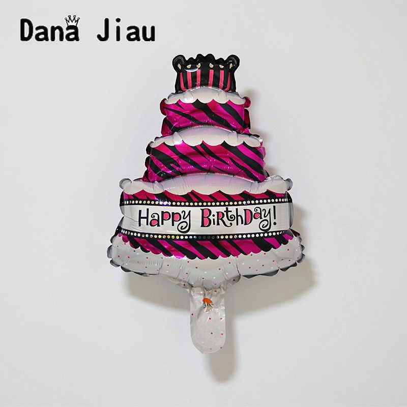 Mini 1 pc 43*29 cm chica/niño feliz cumpleaños pary globo rosa azul pequeño pastel papel de aluminio proveedor de globos para niños de juguete al por mayor