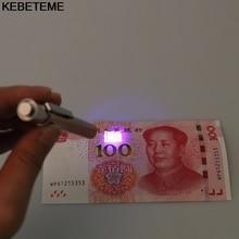 1 шт. мини 2 в 1 УФ-валюта деньги Примечание детектор поддельный проверки с ремешком Банк Примечание Тестер ручка