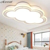 Novas crianças teto led luz para quarto de controle remoto tipo nuvem teto montado luminária luminárias para 8-20 metros quadrados