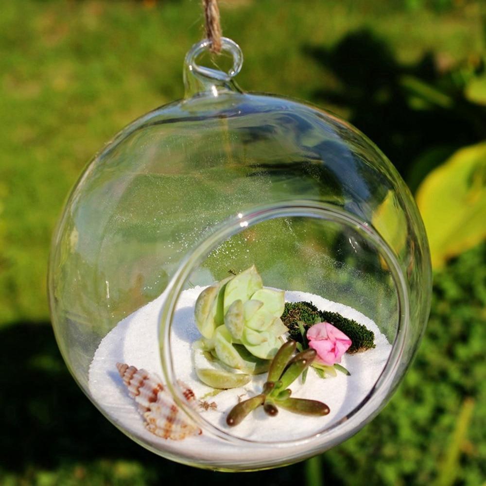 Průměr = 10 cm 8 ks / sada zavěšené terárium sklo stolní květinové vázy držáky svíček pro svatební party dekorace domácí zahradní výzdoba