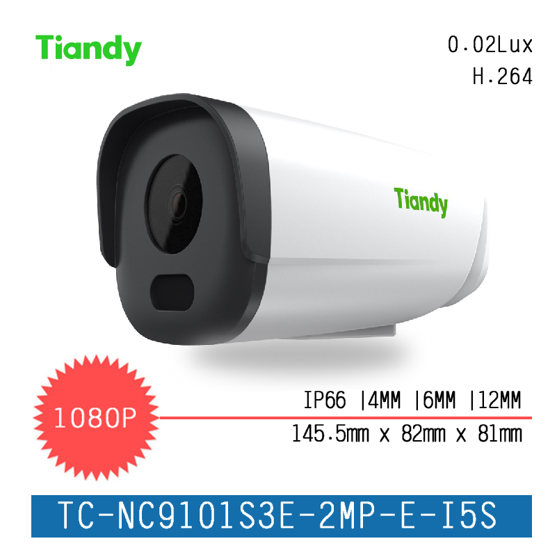2017 New Tiandy IP Camera TC-NC9101S3E-2MP-E-I5S 1080P H.264 Outdoor CCTV Camera CCTV System Support Onvif and English Version ds 2cd4026fwd a english version 2mp ultra low light smart cctv ip camera poe auto back focus without lens h 264