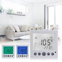 Programa Semanal da Sala de Aquecimento piso De Aquecimento Termostato Controlador de Temperatura Quente Auto Controle Grande Visor LCD com Luz de Fundo