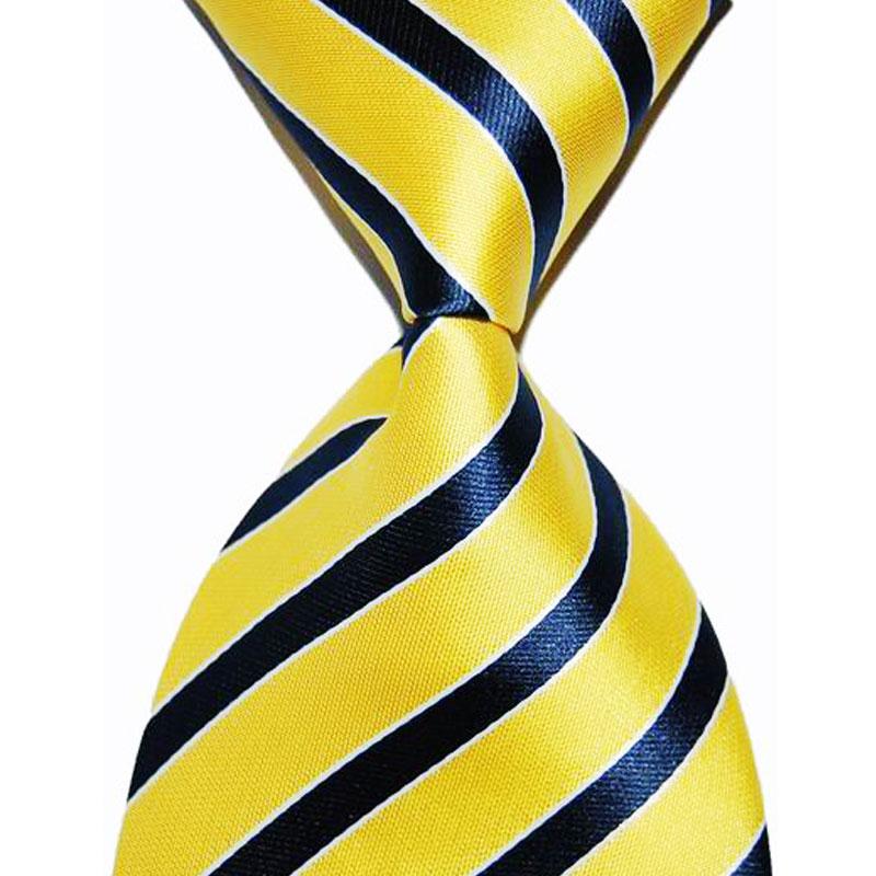Zijden stropdas gestreepte cadeau voor mannen stropdas 10cm breedte - Kledingaccessoires