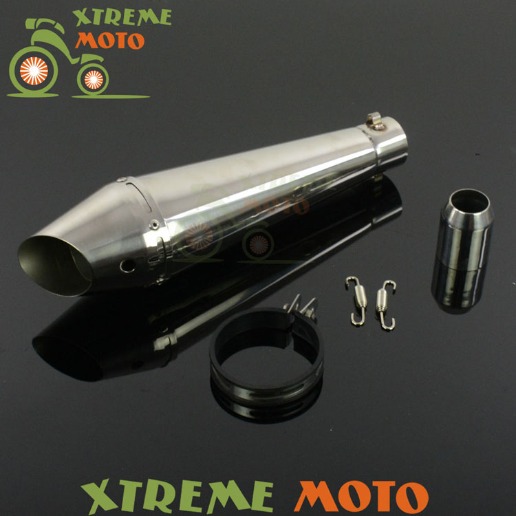 ФОТО GP Stainelss Steel Motorcycle 38-51mm Exhaust Muffler Slip On With Moveable DB Killer For CB400 600 CBR600 1000 ER6N 6R R1 R6