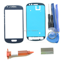 Front Outer Lens Glass Replacement Kits For Samsung Galaxy S3 Mini i8190 Glass Repiar Parts UV Glue Blade Adhesive