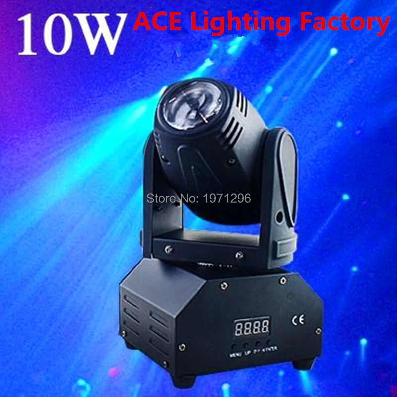 ФОТО HOT 10W LED Stage DJ Lighting Moving Head DMX 512 Light Beam For Stage Party Light High Quality Disco Effect Light