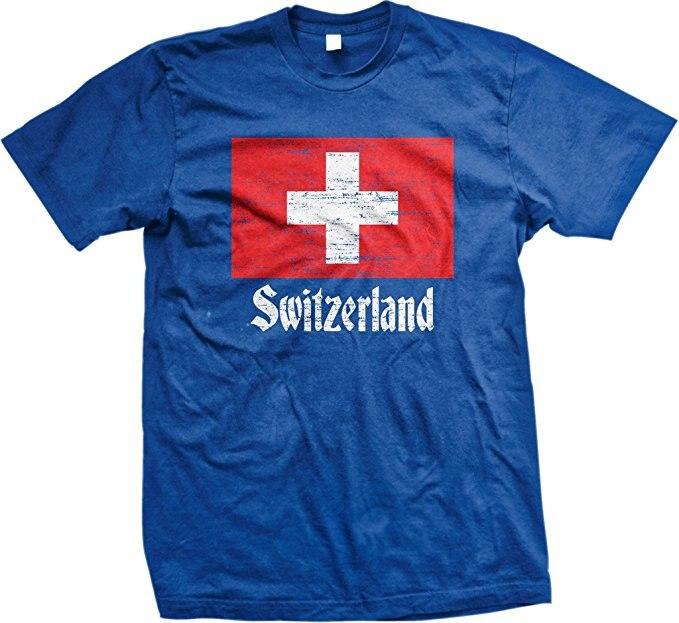 brand new c0813 5f19f US $12.89 14% OFF|Männer T shirt Drucken Baumwolle Kurzarm T Shirt Flagge  der Schweiz, schweizer Flagge, Schweizer männer T shirt, NOFO Kleidung ...