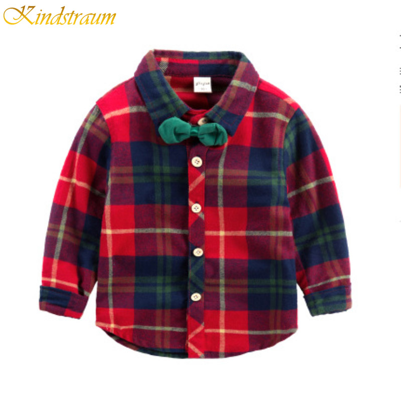Kindstraum Long Sleeve Boys Tie Shirts New Spring Striped