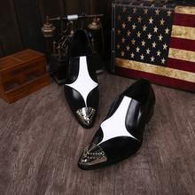 Black spiked loafers steel pointy toe studded genuine leather luxury formal shoes men male hidden heel oxford shoes for men цена 2017