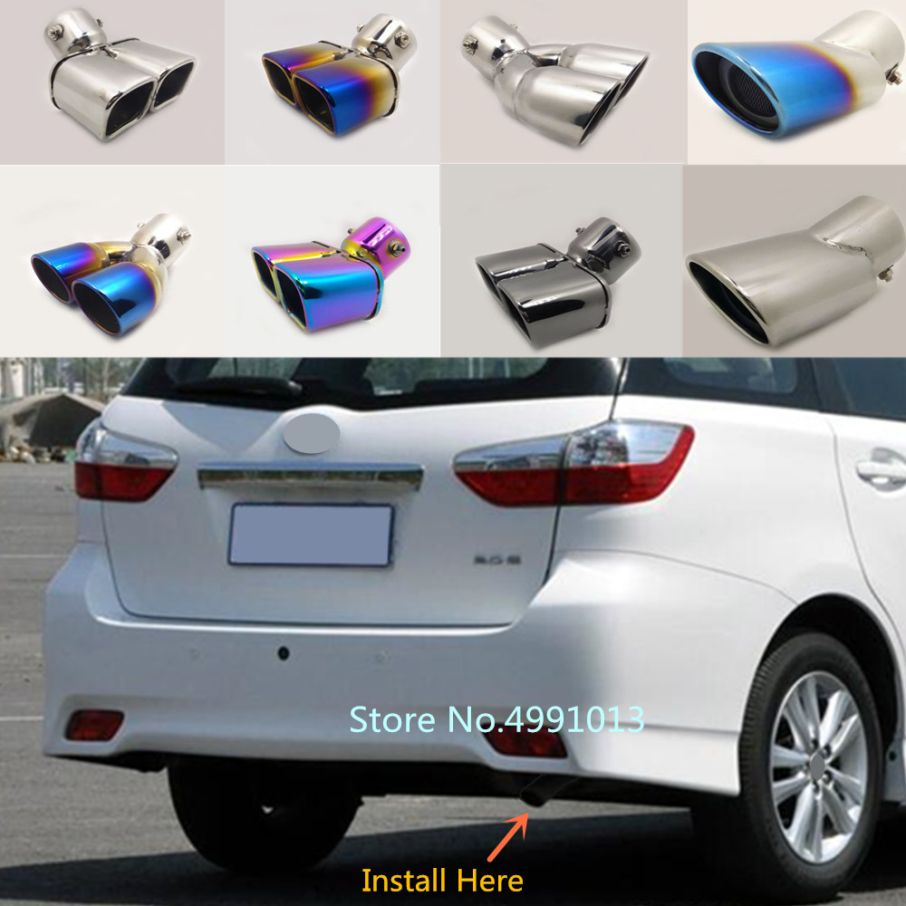 For Toyota Wish 2005-2010 2011-2018 Car Cover Muffler Exterior Back End Pipe Dedicate Exhaust Tip Tail Outlet Ornament Vent