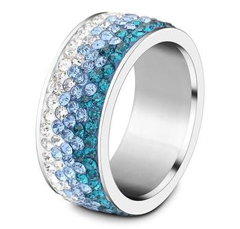 Women's Elegant Crystal Ring Jewelry Rings Women Jewelry Ring Size: 11 Main Stone Color: blue