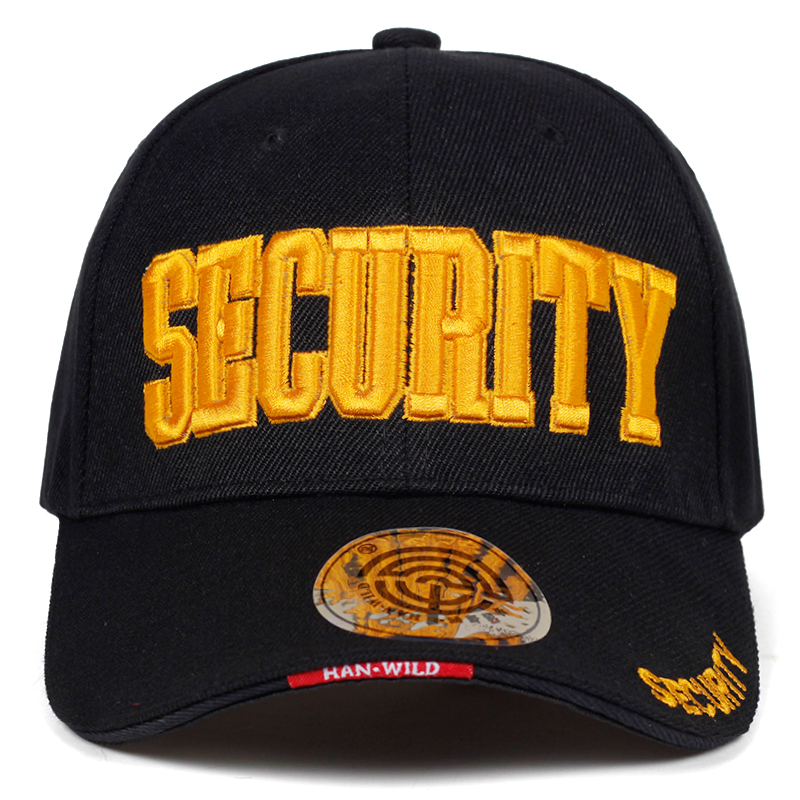 2019 New SECURITY Embroidery Baseball Cap Hip Hop Snapback Caps Outdoor Street Cool Fashion Hat Adjustable Cotton Daddy Caps
