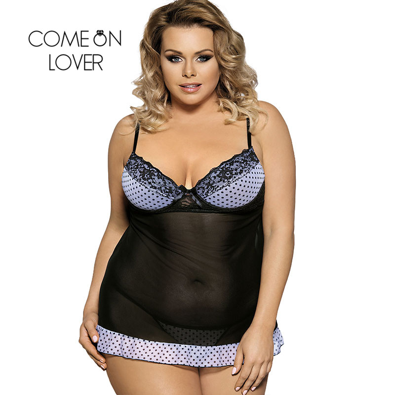 Comeonlover Sexy Lingerie Plus Size High Quality Lingerie Sexy Hot Strapless Sexy-costume Erotic Lingerie Lace Sleepwear RI7895