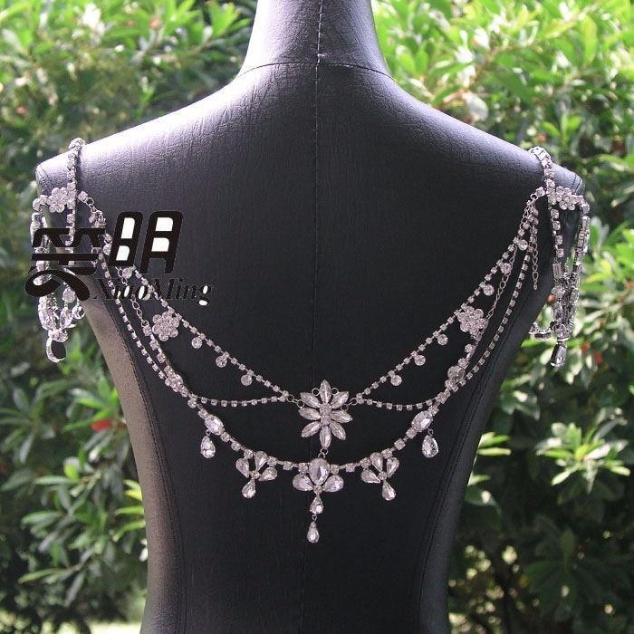 Image 5 - New Fashion Bride Jewelry Vintage shoulder Chains big Necklaces  Pendant Long Necklace Wedding Shoulder strap Bridal AccessoriesChain  Necklaces