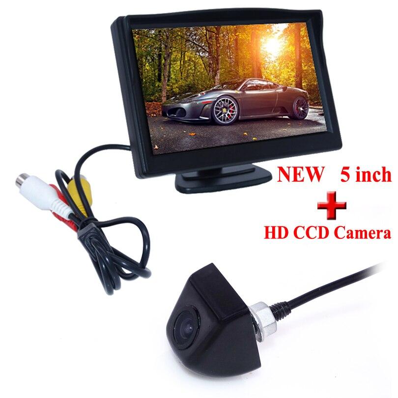 170 Degree Car Styling 2016 Reverse Camera With <font><b>Monitor</b></font> Car Rear View Camera Car Mirror <font><b>Monitor</b></font> 5inch Car Accessories CCD New