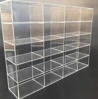 Dimensioni Acrilico Gioielli Casella di Visualizzazione di Stoccaggio Giocattolo in miniatura Del Supporto Del Basamento Piccola Auto Vetrina