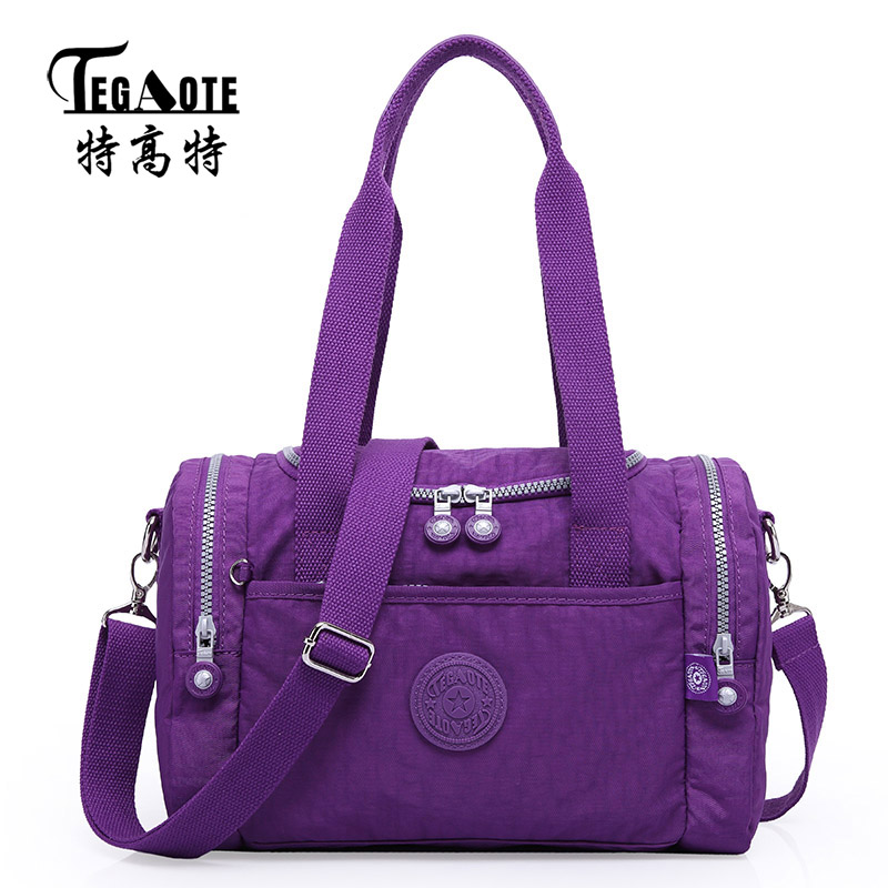 TEGAOTE Top-handle Bag Women's Travel Shoulder Bag Fashion Nylon Travel Tote Female Purse Feminina Casual Shopping Totes Handbag 2017 120cm diy metal purse chain strap handle bag accessories shoulder crossbody bag handbag replacement fashion long chains new
