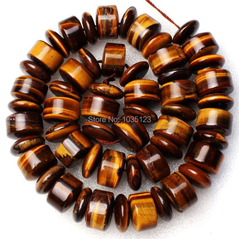 Free Shipping 5x14mm Coin And 9x14mm Column Shape Yellow Tigers Eye Loose Beads Strand 15 DIY Creative Jewellery Making w2006