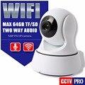 HD 720 P 1.0MP PTZ Wifi Cámara IP IR-Cut Visión Nocturna de Seguridad de dos Vías de Audio Vigilancia CCTV Cámara IP Inalámbrica P2P cámara de Interior Uso