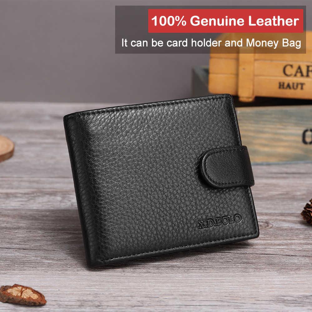 XDBOLO nouveau cuir véritable hommes portefeuilles en cuir souple hommes portefeuille poche à monnaie et porte-carte sacs à main de haute qualité pour homme