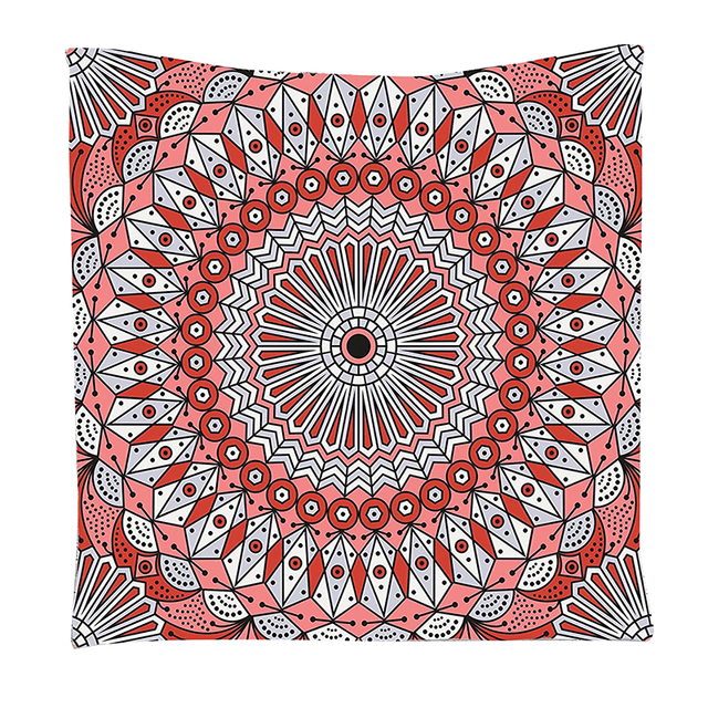 Moroccan Decor Collection, Colorful Ethnic Patterned Arabesque Ornament  Ceiling Medieval , Wall Hanging Tapestry Light