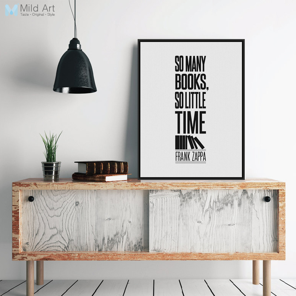 Minimalist Book Cover Quotes ~ Modern minimalist black white motivational book quotes typography a4