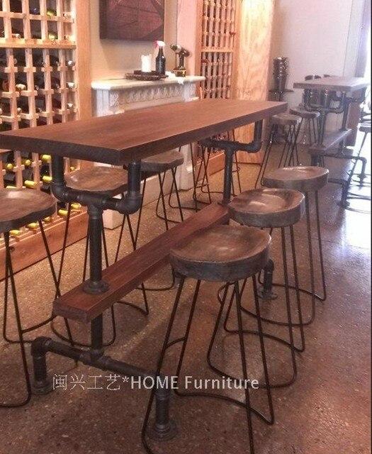Mesa de bar americano mesas de madeira maci a e cadeiras for Mesas de madera para bar
