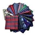 Embroidery Jacquard Mens Elegant Print Pocket Square Fashion All Match Wedding Handkerchief Mouchoir De Poche Homme