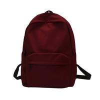 4b4f0140da2 New Waterproof Nylon Women Backpack Japan Style Solid Backpack Mochila  Feminina Mujer Travel Bag Teenage Girls