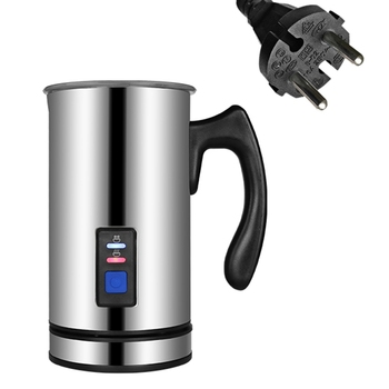 Biolomix 3 Function Electric Milk Frother Milk Steamer Creamer Milk Heater With New Foam Density For Latte Cappuccino Hot Choc