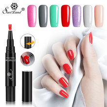 Saviland 2019 New 3 in 1 Nail Pen Gel Varnish One Step For Manicure Polish  Primer In UV Lacquer Glitter