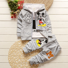Anlencool 2019 spring and autumn children's three-piece suit new Mickey children's suit pure cotton children spring clothing set