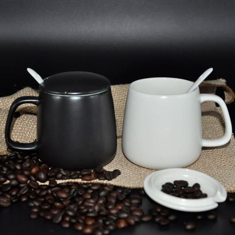 Creative Black White Ceramic Coffee Cups Ceramic Coffee
